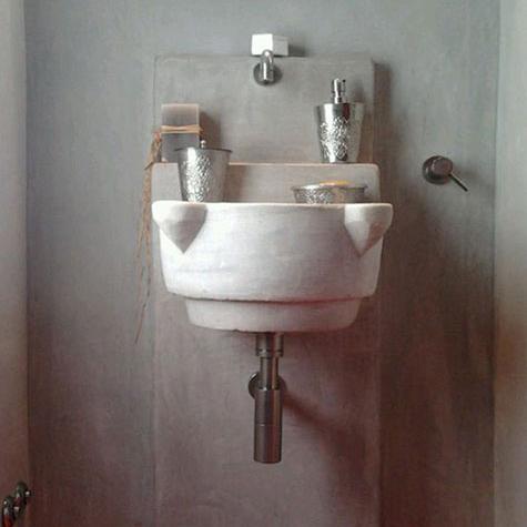elementi bagno con lavabo massello in pietra naturale