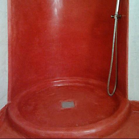 vano doccia in tadelatk rosso
