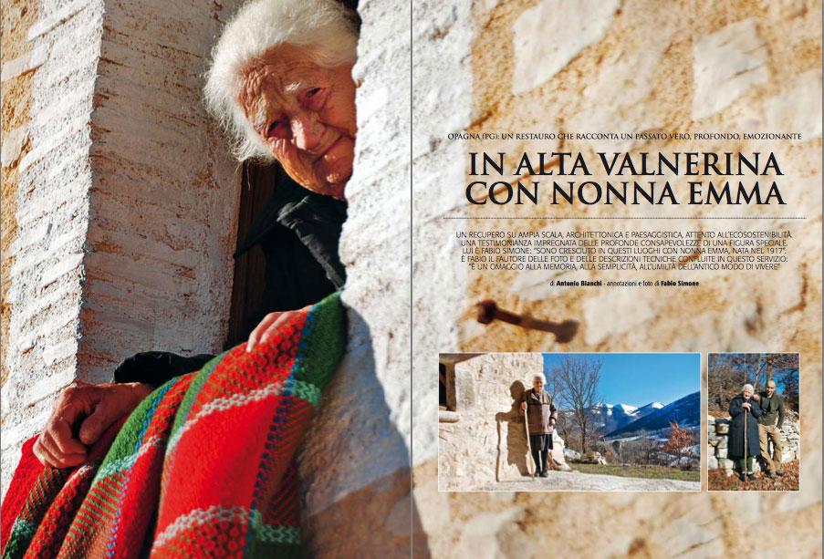 In Alva Valnerina con Nonna Emma, articolo pubblicato su Casantica