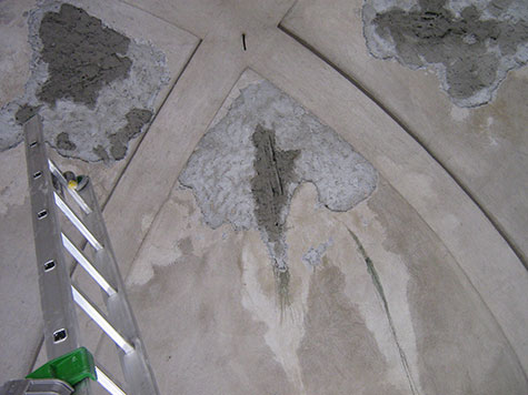 Chiesa Valdese: volta in fase di restauro