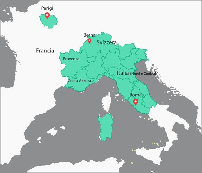 mappa dei cantieri Opus Bioedilizia