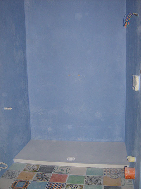 pareti doccia in tadelakt